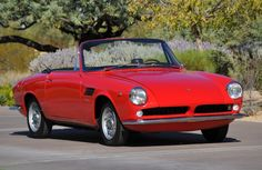 1967 ASA 1100 GT Spider - Autocostruzioni Societa per Azioni, or ASA, was a small Italian car company that got their start in 1962.  ASA's most popular model was the 1000 GT, with a 1.0-liter engine, but two cars – this being one of them – snuck out of the factory with an extra 100cc. Most of ASA's cars were coupes. They only built a few convertibles, and this convertible wears a body by Bertone. ASA built about 125 cars before production ceased in 1969.