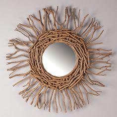 Love this driftwood mirror