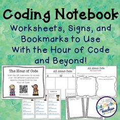 Coding Notebook: Worksheets, Signs, and Bookmarks for Hour of Code and Beyond!