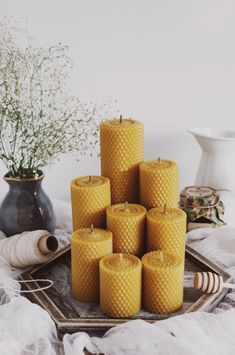 Beeswax Candles, Candle Wax, Scented Candles, Shell Candles, Pillar Candles, Diy Candles Without Wax, Bath Art, Diy Candle Holders, Candle Magic