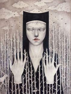 Ceren Aksungur #ink #pencil #drawing #lowbrow #popsurrealism #surrealism #illustration