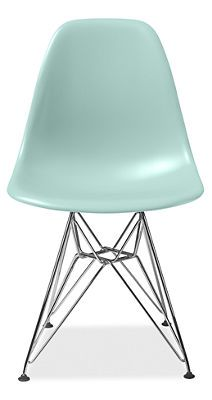 This color is perfect! Chair is discontinued. $319 Eames® Molded Plastic Chairs with Chrome Wire Base - Chairs - Dining - Room & Board