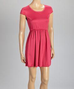 This Fuchsia Cap-Sleeve Dress is perfect! #zulilyfinds