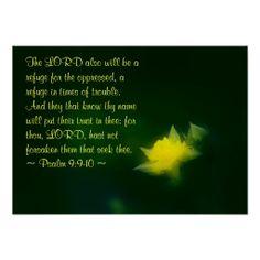 Psalm 9:9-10 print from Scripture Classics #zazzle #gift #photogift #Christian
