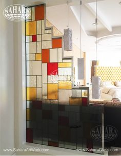 stained glass partition