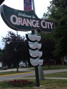 Welcome to Orange City Iowa!   You will see many Dutch shoes around this quaint town
