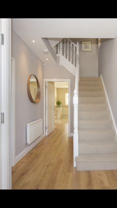 hallway decorating 591660469781179693 - Hall and stairway up to first landing , Source by Carpet Diy, Grey Stair Carpet, Black Carpet, Carpet Stairs, Wool Carpet, Landing Decor, Grey Hallway, Hallway Colours, Flur Design