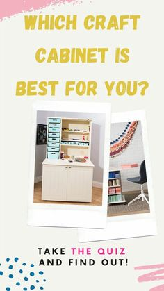 Which Craft Cabinet Is Right For You? Take The Quiz & Find Out! A totally customised experience based on the way that you work in your craft room. If you're finally ready to buy your unit but still on the fence, this recommendation system has been built by professionals with 12 possible outcomes. Try it out & see the results Craft Tables With Storage, Craft Storage Cabinets, Craft Cabinet, Easy Craft Projects, Craft Ideas, Decor Ideas, Do It Yourself Decorating, Project Board, Good Tutorials