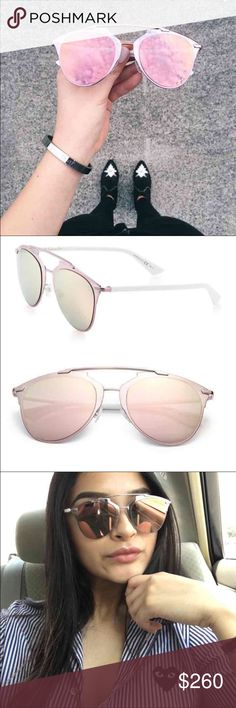 1aeb28799c8 Pink Christian Dior reflected sunglasses Authentic pair