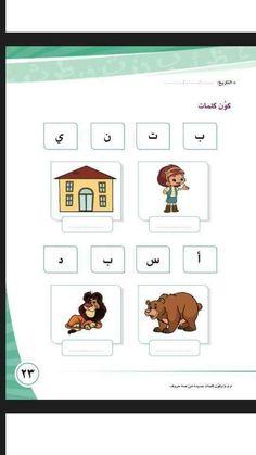 Alphabet Worksheets, Kindergarten Worksheets, Preschool Activities, Arabic Alphabet Letters, Arabic Alphabet For Kids, Learning Cards, Learning Numbers, Body Parts Preschool, Arabic Lessons