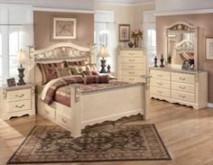 Sanibel 5 Piece Bedroom Set.  I like this bedroom style it is pretty and looks very comfortable and relaxing
