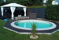 de - Build your own pool! We help you!de – Build your own pool! We help you! Backyard Pool Designs, Small Backyard Pools, Small Pools, Swimming Pools Backyard, Backyard Patio, Backyard Landscaping, Backyard Ideas, Lap Pools, Indoor Pools