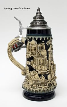 Blue Color Combinations, Medieval Tower, German Beer Steins, Cities In Germany, Neuschwanstein Castle, Beer Mugs, Beer Brewing, My Collection, Knight