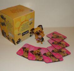 Little Paws Tara Yorkie Yorkshire Terrier Dog Arora UK Bone Tag + 6 Coasters