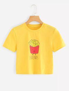 T-shirt dos desenhos animados para mulheres romwe Desenhos Animados caaf03d8b8f66