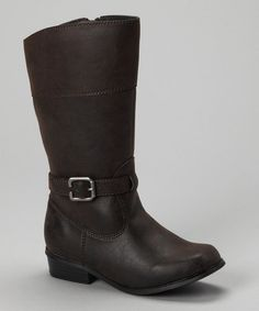 Take a look at this Brown Belmont Boot - Girls by Smoky Mountain Boots on #zulily today!