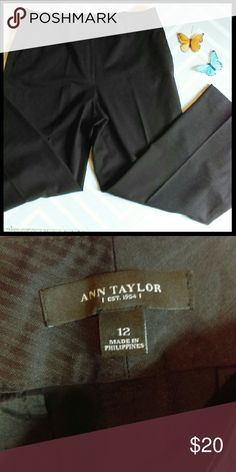 Ann Taylor dress pants In perfect condition. Nice black dress pants to wear to work or for recreation. From a smoke and pet free home. I ship fast!  *Bundle and save 10%  *No trades  *All offers considered Ann Taylor Pants Trousers