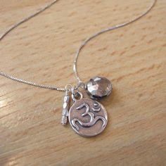 Pyrite Yoga Ohm Necklace