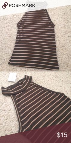 Adorable olive striped top New ! WINDSOR Tops Blouses