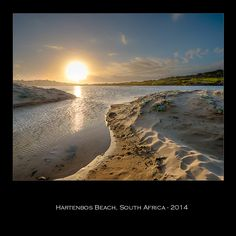 Sunset over Hartenbos Beach in SouthAfrica