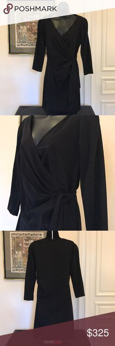 "Diane von Furstenberg wrap dress Vintage Women's classic wrap dress Size 8 ""runs small"" Black classic Excellent condition  Very versatile Diane Von Furstenberg Dresses"