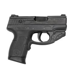 This Crimson Trace Laserguard fits over the trigger guard of a Taurus Millennium Pro pistol. The laser is instinctively activated by the rubber overmolded front switch. Attaches around the trigger gua