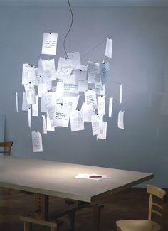De Ingo Maurer Zettel z?5 hanglamp is gemaakt van glas, staal en papier. De hanglamp heeft een diameter van 120 centimeter en een hoogte van 120 centimeter. De maximale snoerlengte is 330 centimeter. De hanglamp wordt geleverd met 80 witte A5-blaadjes van Japans papier, waarvan er 49 al bedrukt zijn. De overige 31 blaadjes kunnen zelf versierd worden. De hanglamp heeft twee E27-fittingen, een voor een halogeenlamp en een voor een reflectorlamp. Deze hanglamp wordt inclusief lichtbronnen…