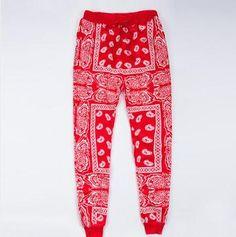 395454a4a Bandana Fever Women39s Red Bandana Print Joggers in 2019