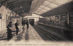 Le Métropolitain du Paris d'antan. La ligne n° 2 Sud Etoile-Italie et la Gare de Sčvres, vers 1910.