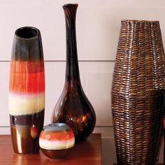 Burnt Sienna Collection Glazed Bullet Vase | Dunelm