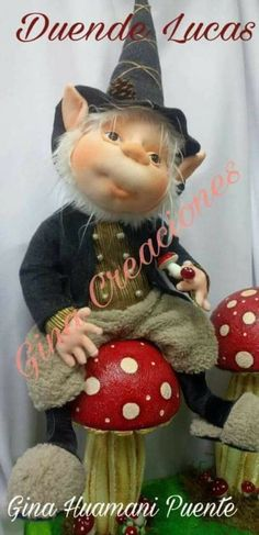 Elves, Gnomes, Projects To Try, Creations, Teddy Bear, Dolls, Christmas Ornaments, Holiday Decor, Artist