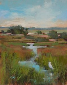 A Quick Lesson on Painting the Sky, painting by artist Karen Margulis