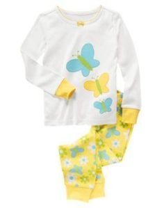 New Gymboree Gymmies girls size 12 Butterfly pajamas-JUST REDUCED to 42% off original price & FREE US shipping! $12.79