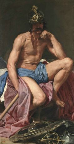 Nice Oil painting Diego Velazquez - Mars, God of War - Nude strong man canvas Framed Art Prints, Painting Prints, Canvas Prints, Acrylic Paintings, Canvas Art, Caravaggio, Mars, Diego Velazquez, Watercolor On Wood