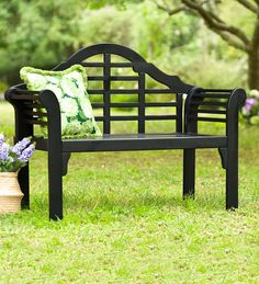 Lutyens Wood Garden Bench | Outdoor Benches