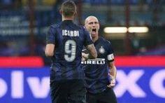 L'Inter batte la Fiorentina e sale al secondo posto in classifica. #calcio #inter #mazzarri #savic #fiorentina