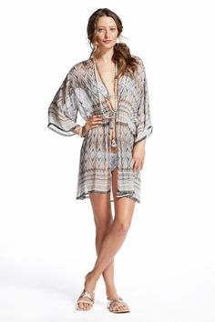 Norta Magnetic Print Silk Cover-up
