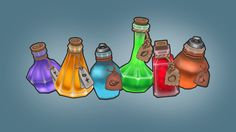 lowpoly potions