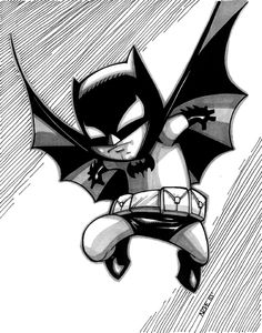 Batman Baby--belongs framed in the baby room.