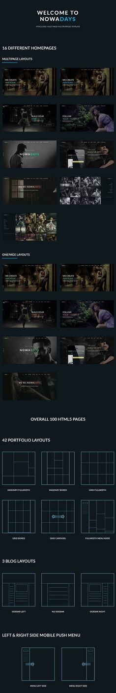 Buy NowaDays - Multipurpose One/Multipage Creative Agency Template by Like-A-Pro on ThemeForest. Overview NowaDays is powerful One/Multi-page Multipurpose Template that helps you create Creative/Agency/Portf. Page Layout, Layouts, Joomla Themes, Portfolio Layout, Drupal, Best Funny Pictures, Templates, Create, Crowd