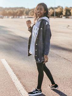 How I Style my Oversized Denim Jacket | Pink Glitter Life