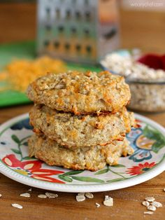These wholesome Oatmeal Cheese Biscuits come together quickly and are perfect for your breakfast or dinner plate!