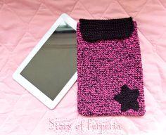 Funda Kawaii para Tablet e iPad  Rosa y Negro  por StarsOfPurpurin