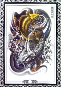 Hailin Fu via Adhitya Rasmi Tattoo Flash design 4