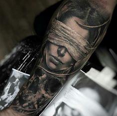 Half Sleeve Tattoos Forearm, Leg Tattoos, Body Art Tattoos, Back Tattoos For Guys, Back Tattoo Women, Dark Tattoo, Grey Tattoo, Badass Tattoos, Cool Tattoos