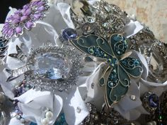 Brooch Bouquet in Azul & Purple by The Bouquet House Inc. WEDDING BOUQUET $ 450 CAD