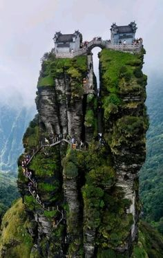 Fanjing Mountain, Guizhou Province, China, - My Dream Life Beautiful Places To Travel, Wonderful Places, Cool Places To Visit, Great Places, Amazing Places On Earth, Places Around The World, Travel Around The World, Beautiful Landscapes, Wonders Of The World