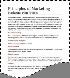 Sample Marketing Plan Cover Page  Marketing  Social Media