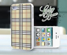 iPhone 4 4s Hard Case  Preppy Girly Plaid by LuckybrewDesigns, $17.88