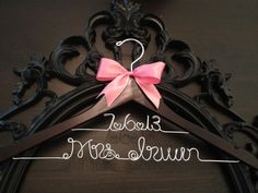 Bridal Hanger / Wedding Date Hanger / Brides Hanger / Personalized Custom Hanger / Wedding Hanger / Name Hanger / Personalized Gift